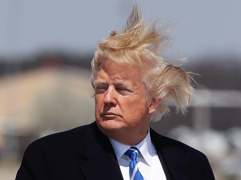 Donald Trump Hair Piece - Does Trump's Hair