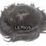 French Lace Mens Wig With Thin Clear PU On Back