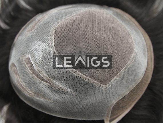 Fine Mono With Clear PU Perimeter & French Lace Front Toupee Hair Pieces