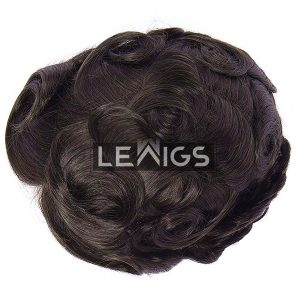 "Hand-Sewn French Lace Wigs For Men 8"" x 10"""