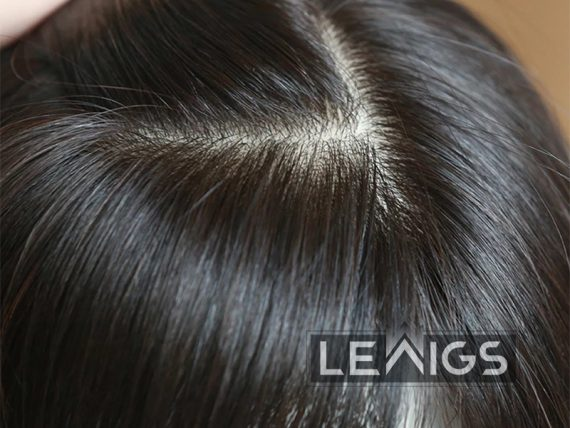Silk Hair Topper For Thinning Hair With PU coated Perimeter
