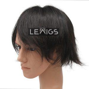 "Fine Mono Mens Hair Toupee With 1"" Clear PU Around Perimeter"