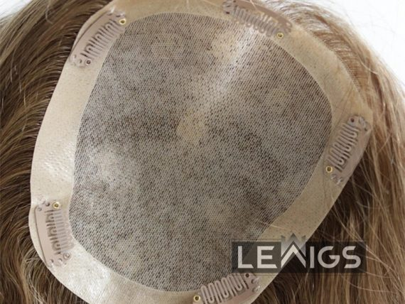 "Real Hair Toppers Mono Base With 1"" PU Coated Perimeter 