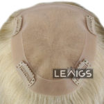 "French Lace Clip On Hair Topper With 1"" PU Coated Around Perimeter 