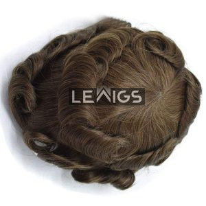 Fine Mono Toupee With Coated PU Perimeter & French Lace Front