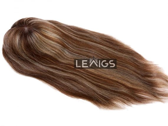 "Women Mono Clip In Hair Topper With 1"" PU Coated Perimeter 