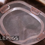 """Women Mono Clip In Hair Topper With 1"""" PU Coated Perimeter 