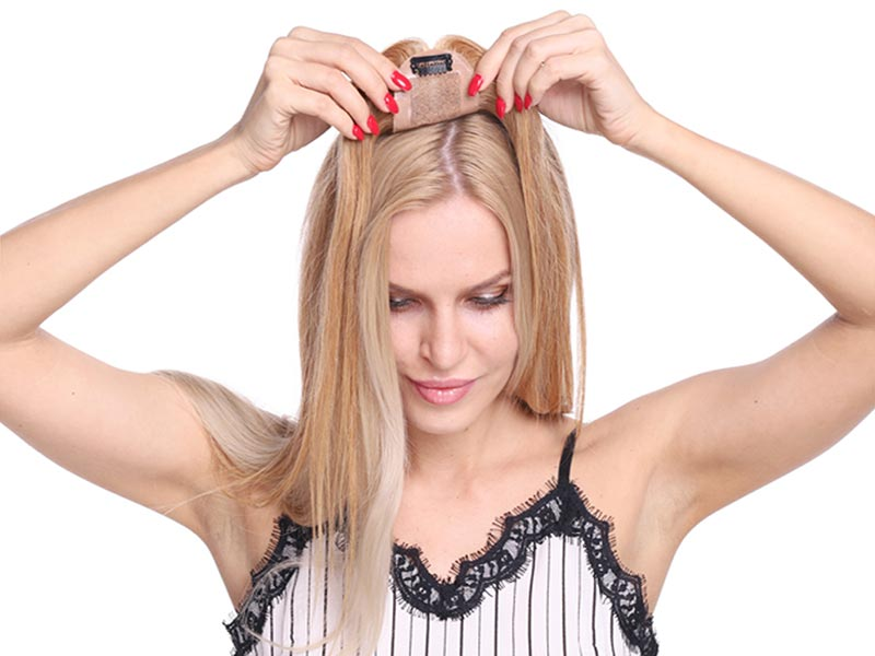 How To Attach Hair Toppers For Thinning Hair With Tape Adhesive?