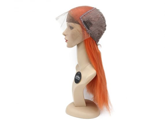 Orange Wig Human Hair With Lace Closure 14 inches | Lewigs