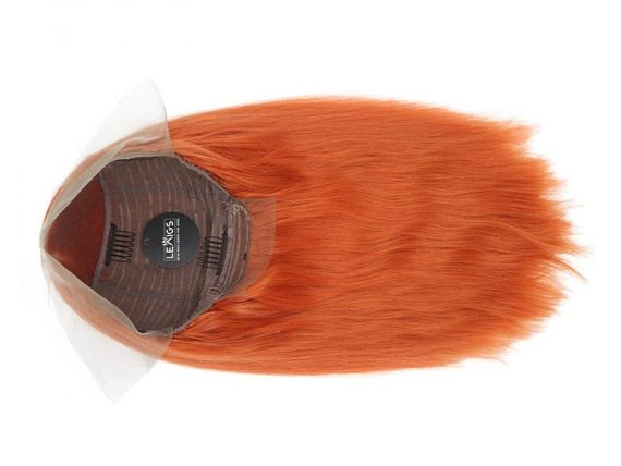 "14"" Orange Lace Closure Wig Human Hair"