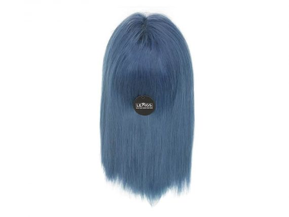 13*6 Straight Blue Lace Front Wig Real Hair 12""