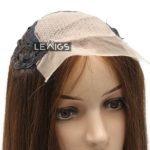 "Silk Base Wiglet Topper 16"" Brown Color Lewigs"