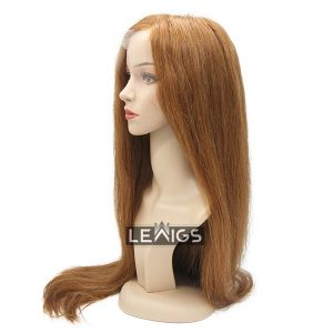"28"" Straight HD Lace Wig Human Hair Color #10"