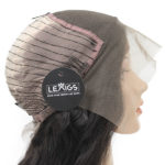 """22"""" Black Lace Front Closure Wig Human Hair 