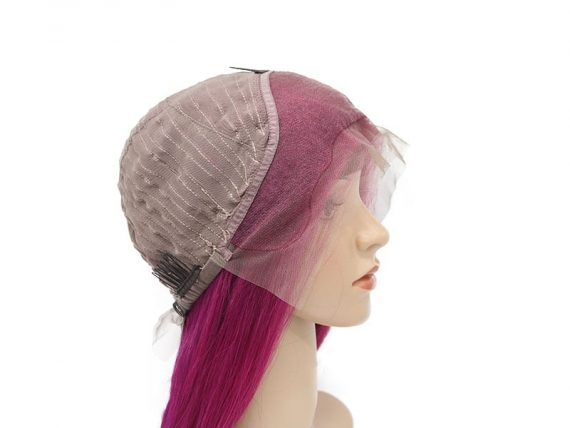 """Pink Lace Front Wigs Real Human Hair 22"""" #Pink   Lewigs"""