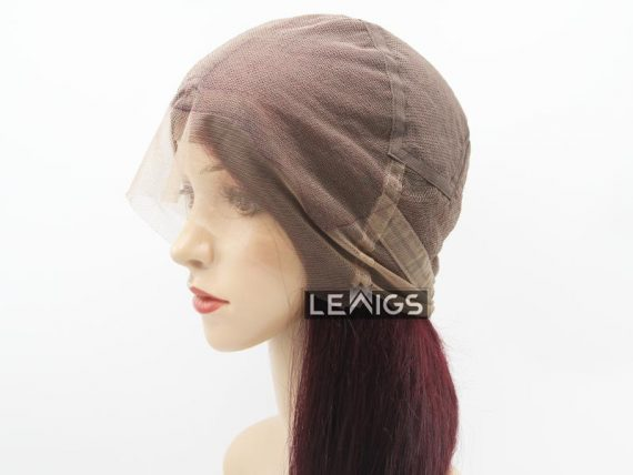 "22"" 150 Density Full Lace Wig Human Hair Color #99j"
