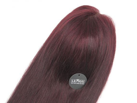 "22"" 150 Density Full Lace Wig Human Hair Color #99j"