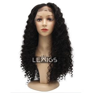 "26"" Curly Full Lace Wig Human Hair 150 Density"