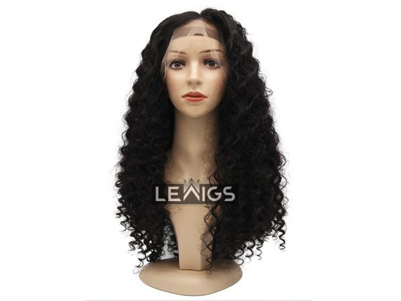 """26"""" Curly Full Lace Wig Human Hair 150 Density"""