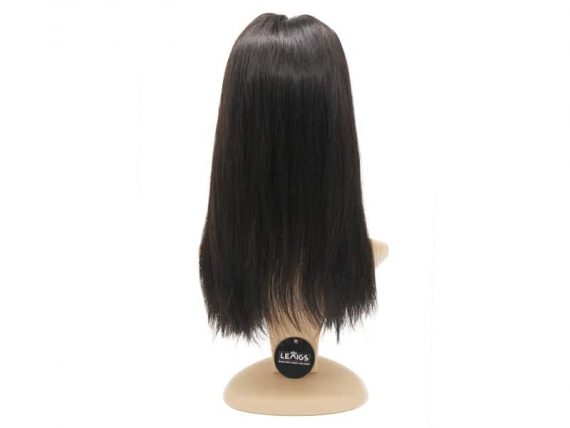 "16 Inches Silk Topper Human Hair Sized 4""x4"" Natural Black Color"