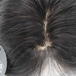 """14"""" Black Silk Hair Topper Real Hair With Clear PU Perimeter"""