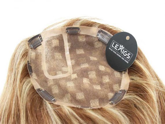 """14"""" Clip In Human Hair Topper Mixing Colors 10/613"""