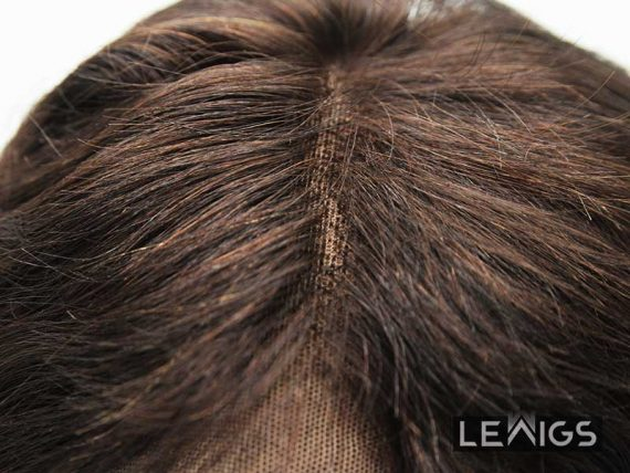 "20"" Wavy Hair Topper Real Hair Brown Color #2"