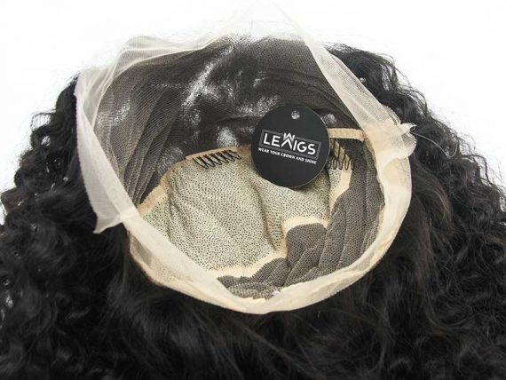 "24"" Full Lace Wig Curly Human Hair With HD Lace - Lewigs"
