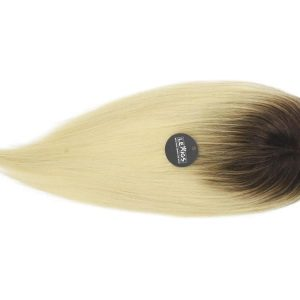 "20"" Remy Human Hair Topper Ombre Color 2/60 Ash"