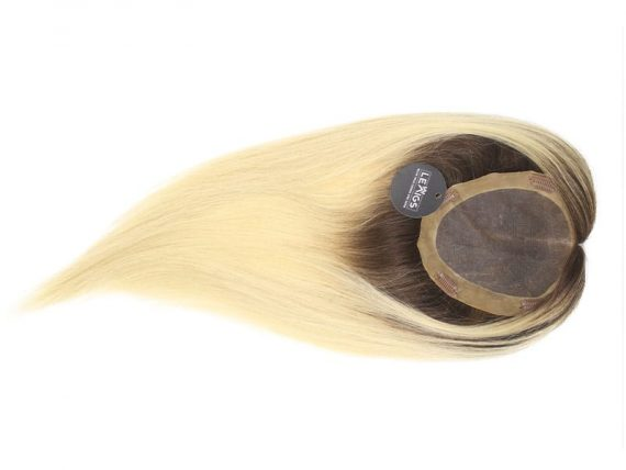 """20"""" Remy Human Hair Topper Ombre Color 2/60 Ash"""