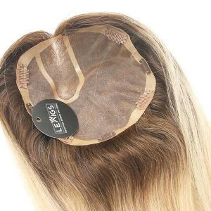 "24"" Ombre Clip On Hair Topper Real Hair Color 2/24"