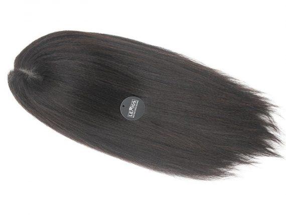 "22"" Natural Black Kinky Straight Lace Wig Human Hair"