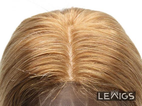 """9x10"""" Hair Topper With Natural Part, 5x5 Silk Top"""