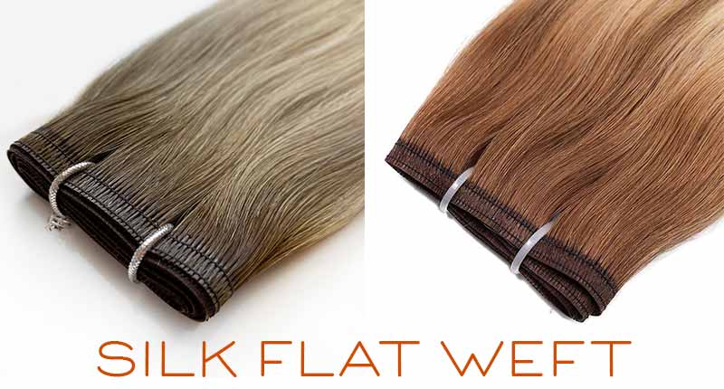 Silk Flat Weft Extensions - The Best Weft Hair To Go For