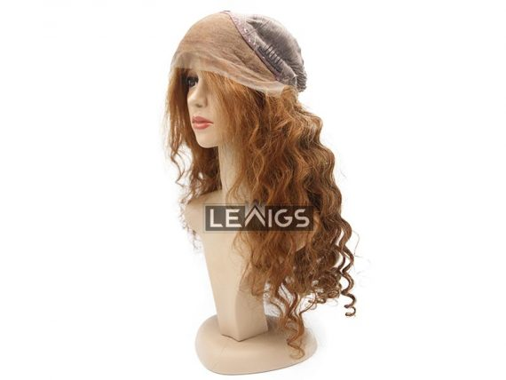 "22"" Wavy Lace Frontal Wig 180% Density Color #10"